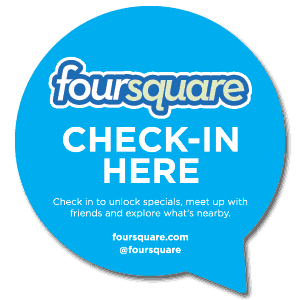 foursquare window cling