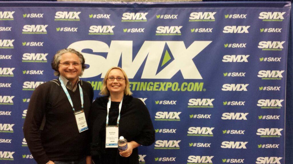 Michael Kohlfürst und Andrea Starzer von PromoMasters auf der SMX West
