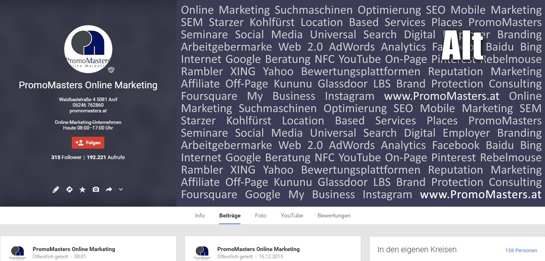 Google+ Alt