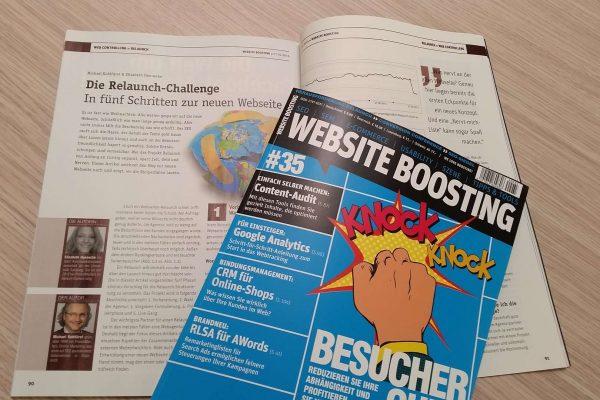 PromoMasters Artikel zum Thema Website Relaunch in der Website Boosting