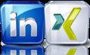Linkedin und XING sind Business Netzwerke für Kontakte und Nachrichten Austausch.
