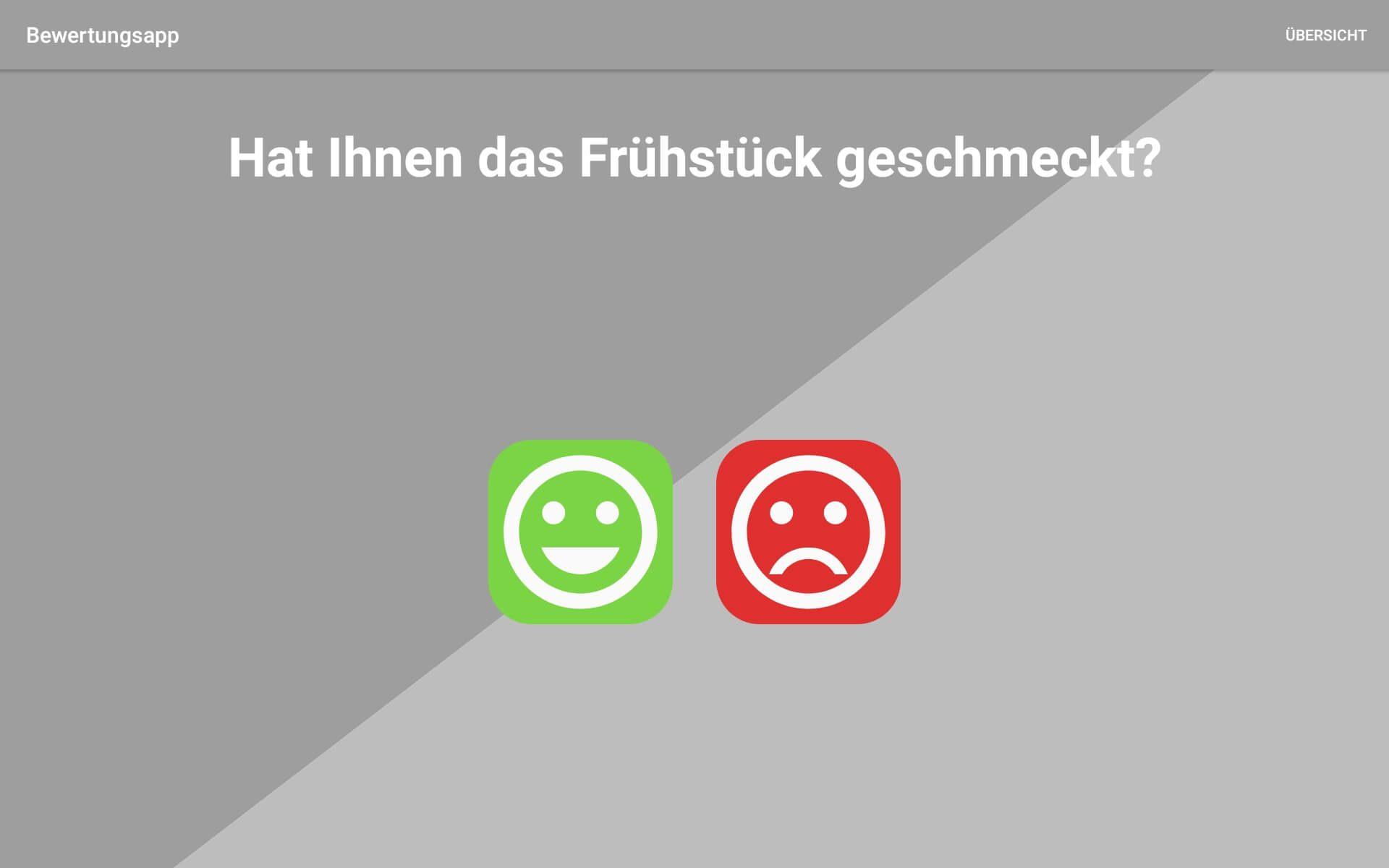 Bewertungs App zur Offline Bewertung von PromoMasters - Smile Frage