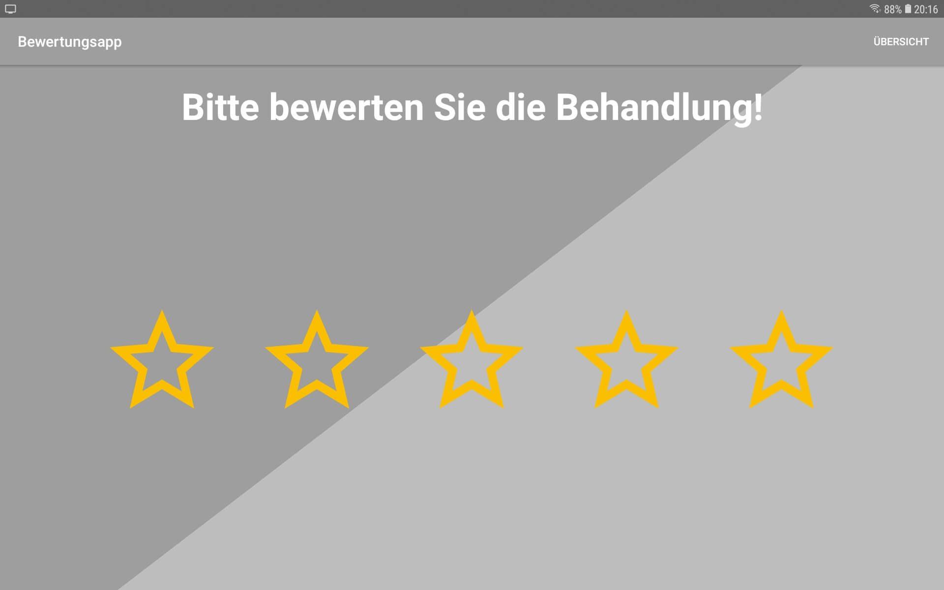 Bewertungs App zur Offline Bewertung von PromoMasters - 5 Sterne