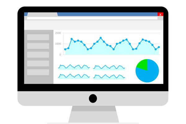 Google Analytics auf Bildschirm