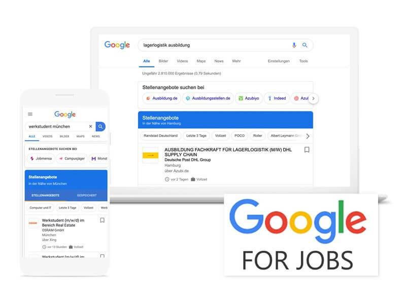 Google for Jobs Österreich