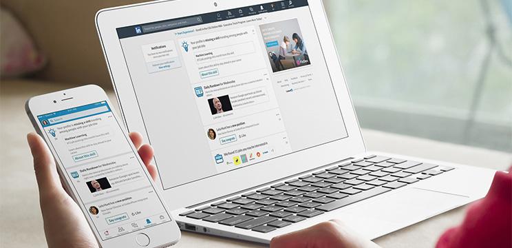LinkedIn Nutzung Mobile und Desktop