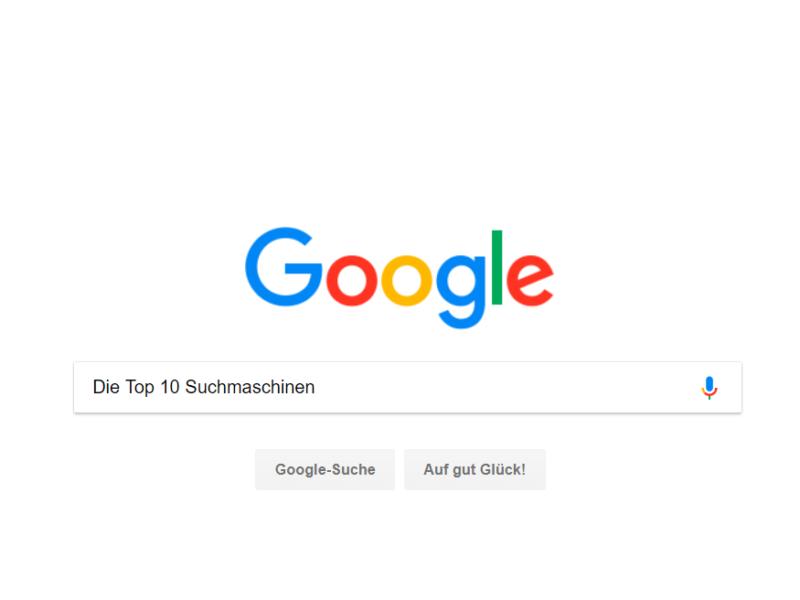 Top-10 der Suchmaschinen
